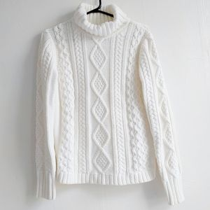 Eddie Bauer Cable Fable turtle neck sweater sizeMP